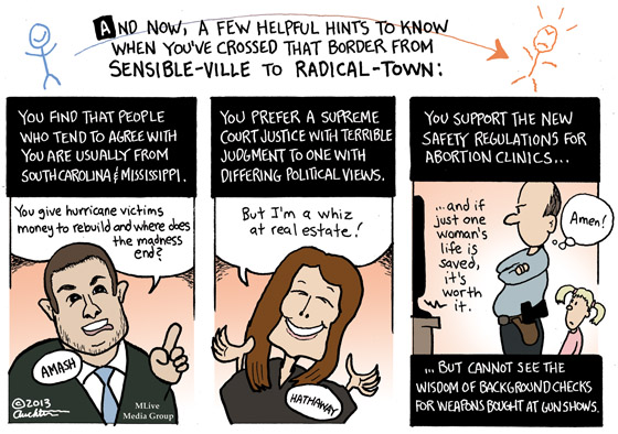From Sensible-ville to Radical-town