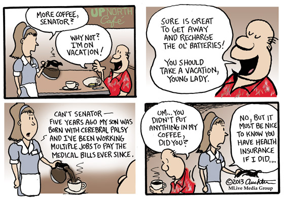 The Senator Is on Vacation -- You Should Take a Vacation, Too!...