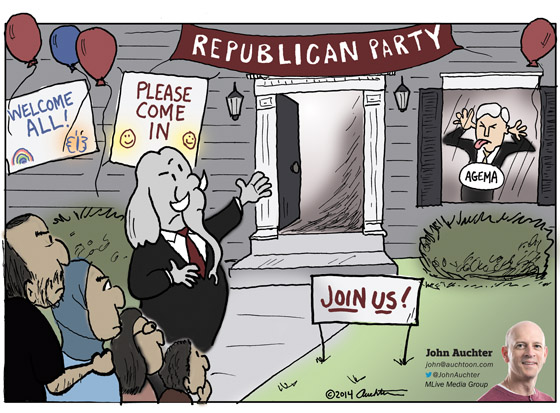 Welcome to the Republican Party. Please Go away.