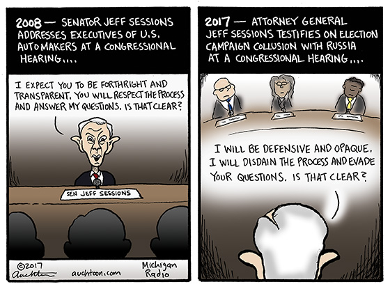 Jeff Sessions Then and Now
